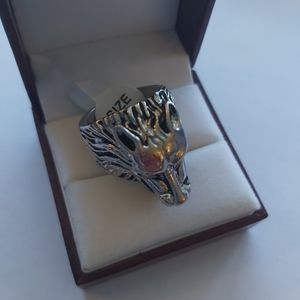 Size 8: Head Wolf Ring
